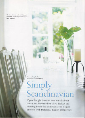 UK Swedish Chair Articles And Press